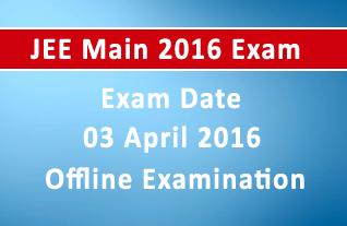 JEE Main 2016 Exam